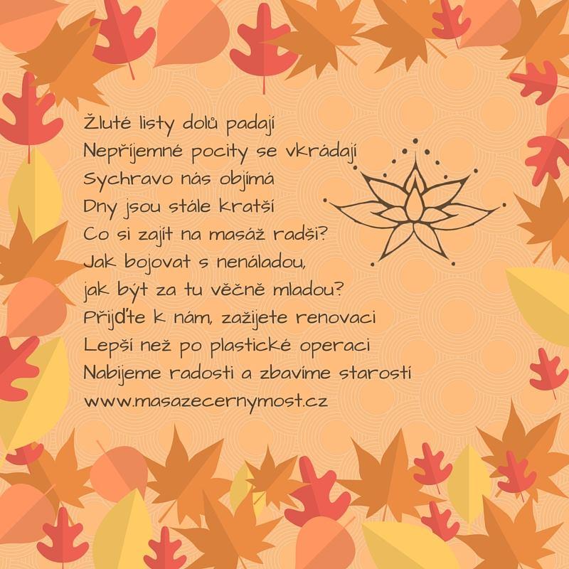 podzimní listí báseň